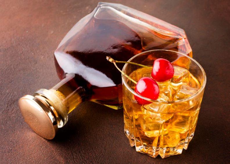 whiskey glass cherries
