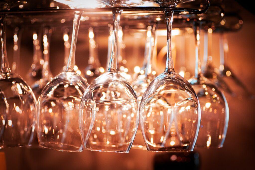 Unused bar glasses